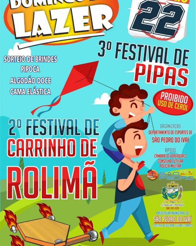 Com muitas atrações, Domingo do Lazer terá Festivais de Pipa e de Carrinho de Rolimã