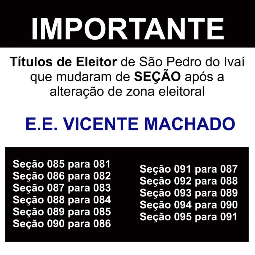 Justiça Eleitoral muda seções em São Pedro do Ivaí. Veja!