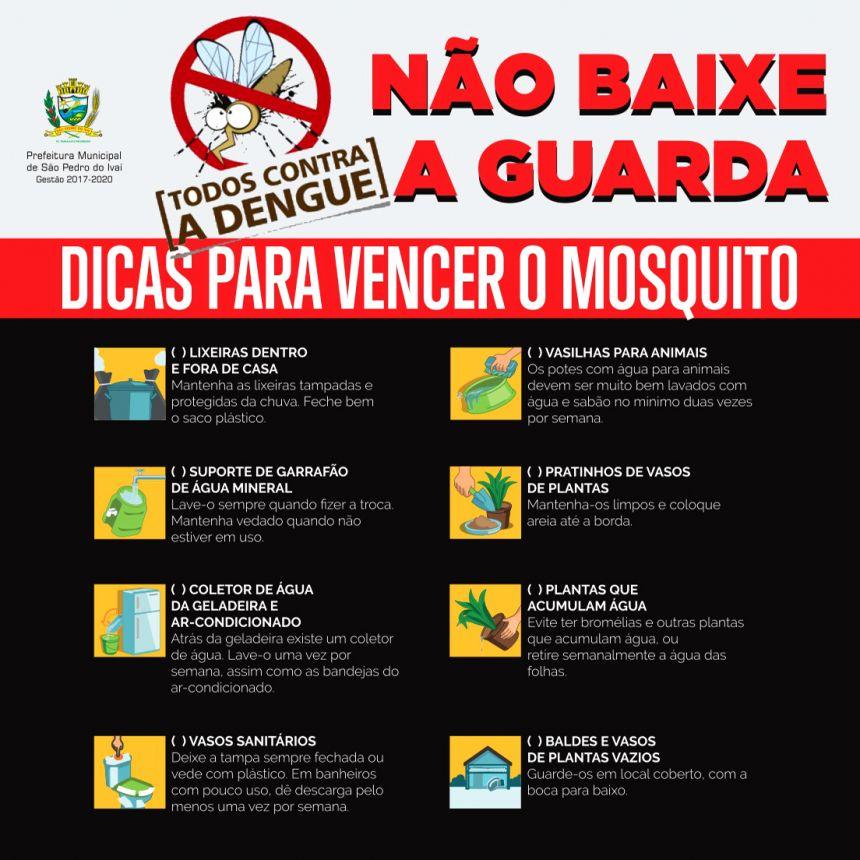"""""""Em dias chuvosos, redobre o combate ao mosquito da dengue"""", diz Secretaria Municipal de Saúde"""
