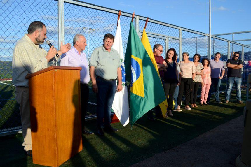 """Governo Municipal de São Pedro do Ivaí inaugura Parque Esportivo Pedro """"Sapo"""""""