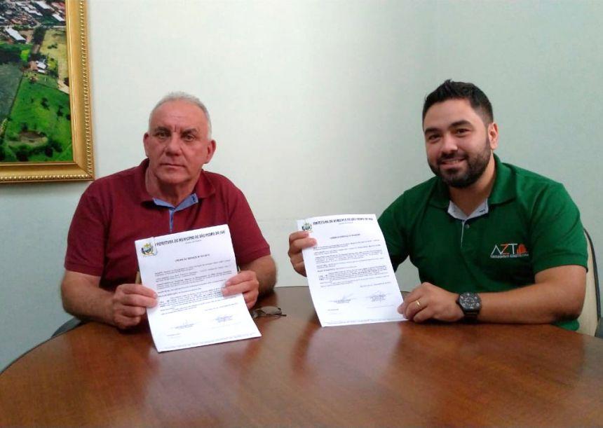 Prefeito José Isalberti assina ordem de serviço para revitalizar Praça da Igreja do Distrito Marisa