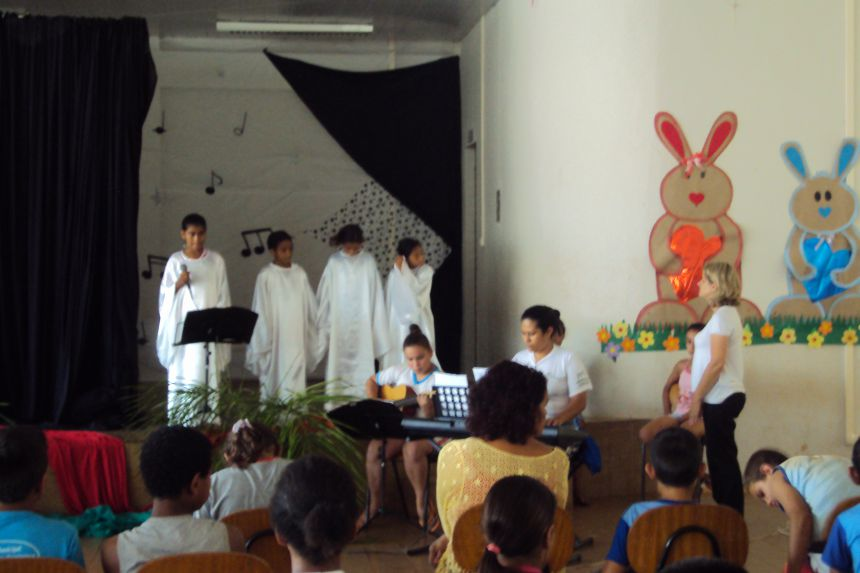 Na quarta-feira (01), na sede do CAIS/PETI, alunos