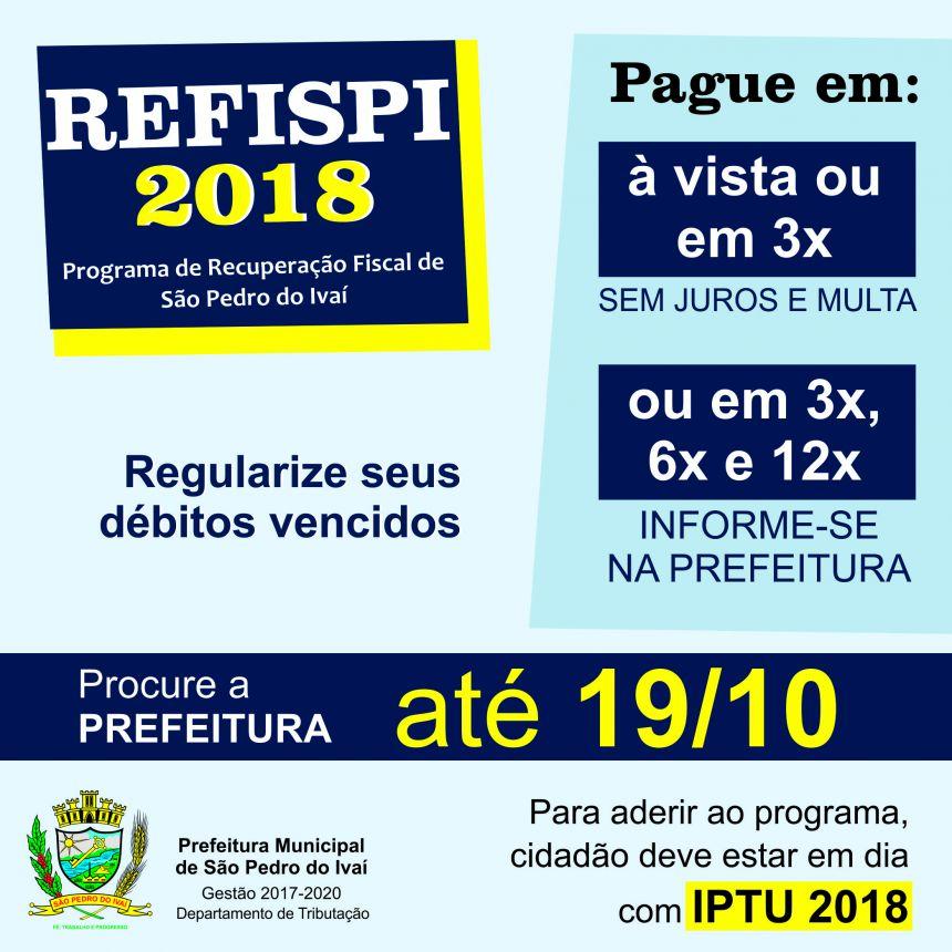 Com o REFISPI 2018, contribuintes podem parcelar débitos com a prefeitura