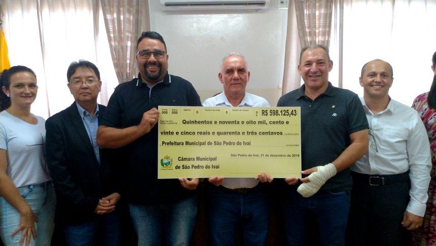 Em 2019, Câmara devolveu quase R$ 50 mil mensais à prefeitura de São Pedro do Ivaí