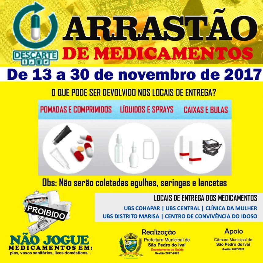 Arrastão de Medicamentos vai até o dia 30 de novembro