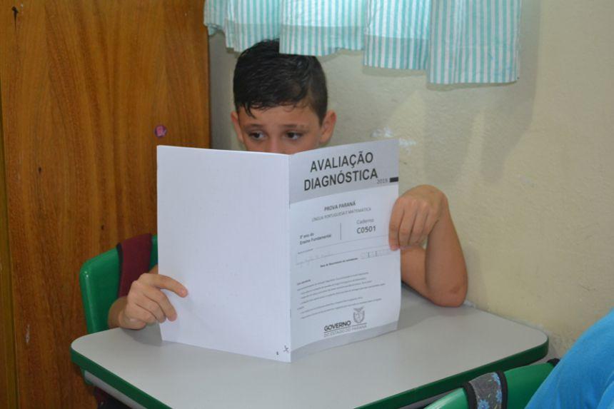 Mais de 600 alunos fizeram a Prova Paraná em São Pedro do Ivaí