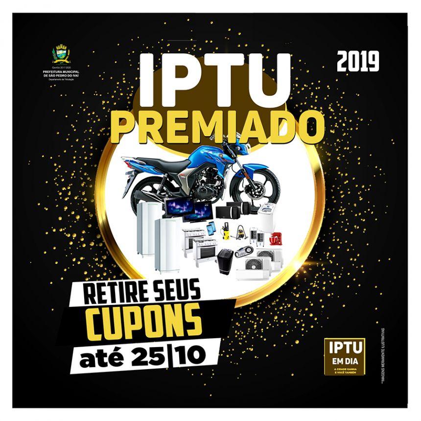 """Cupons da campanha """"IPTU Premiado"""" podem ser retirados até dia 25/10"""