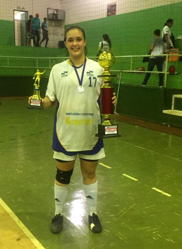 Maria Eduarda, com 9 gols, foi destaque na artilharia