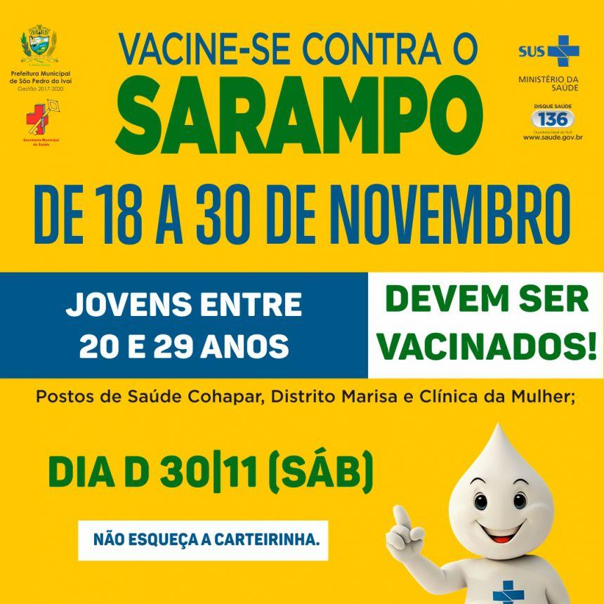 Jovens entre 20 e 29 anos devem tomar vacinação contra sarampo; saiba mais