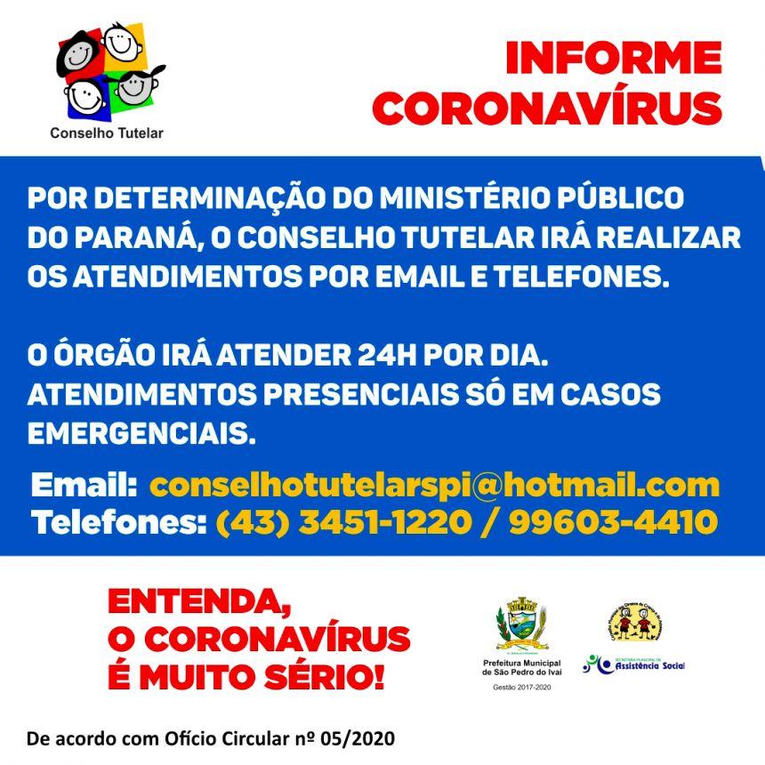 Sem atendimento presencial, Conselho Tutelar irá trabalhar em regime de plantão em SPI