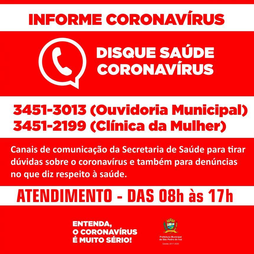 São Pedro do Ivaí disponibiliza telefones para informações e denúncias na saúde