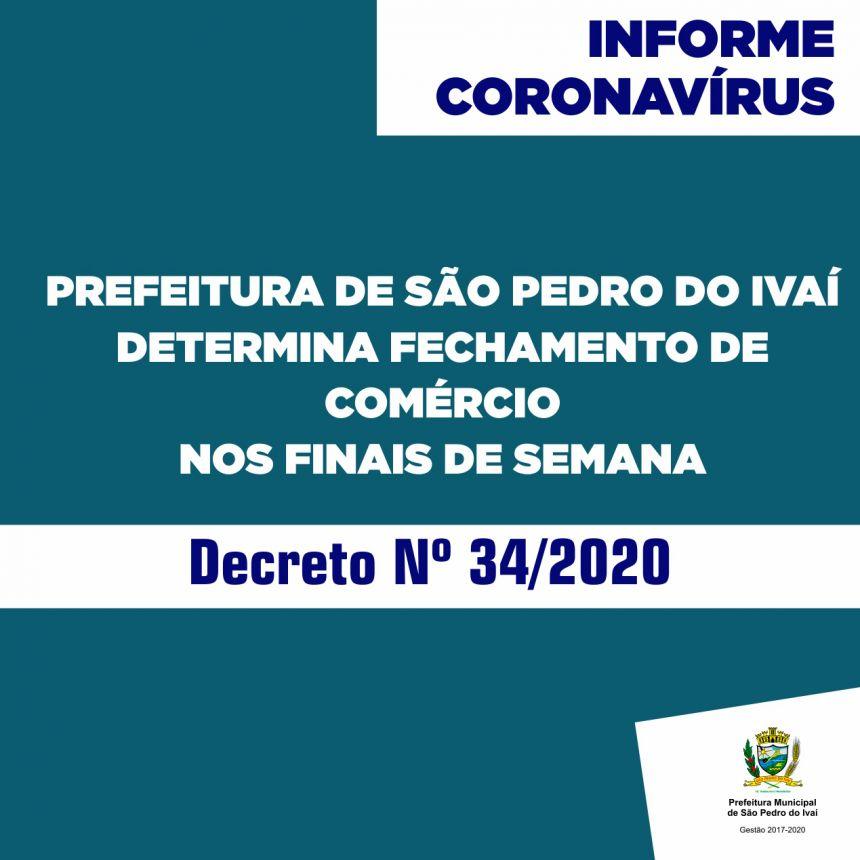 Novo decreto fecha comércio também nos finais de semana e define novas medidas contra coronavírus