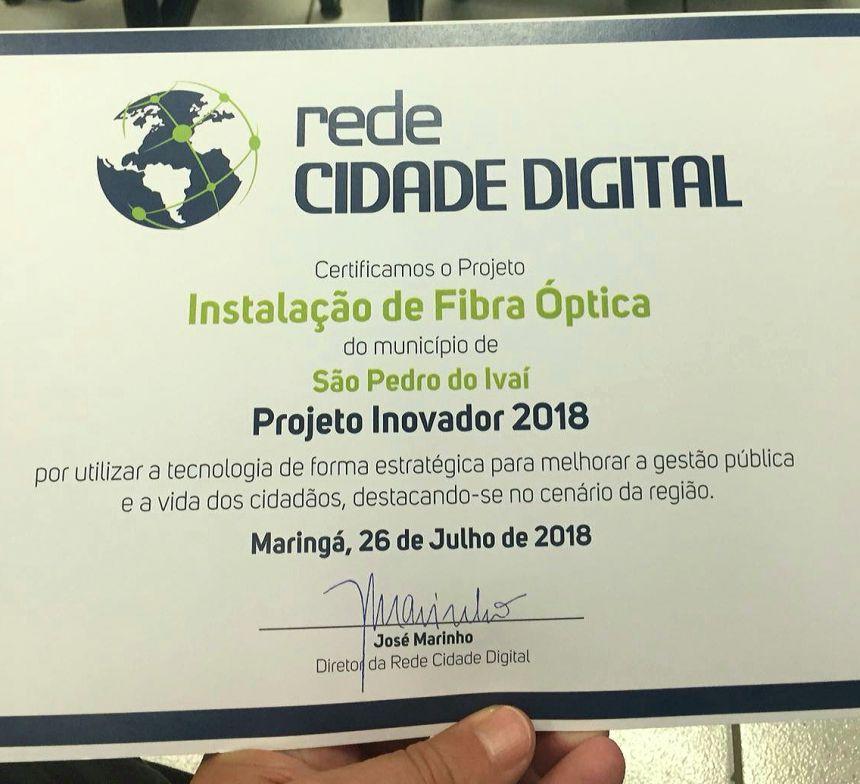 São Pedro do Ivaí é homenageado por projeto de tecnologia em Maringá