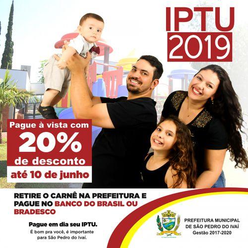 Pague seu IPTU com 20% de desconto até dia 10 de junho