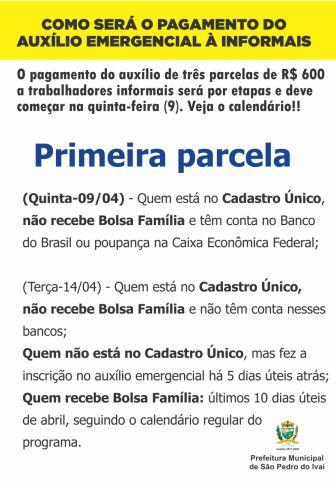 Assistência Social do município ajudará informais com dúvidas sobre auxílio emergencial