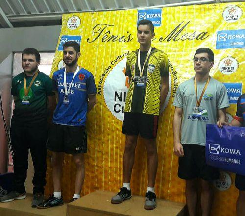 Mesatenista sãopedrense ganha etapa estadual da modalidade em Curitiba