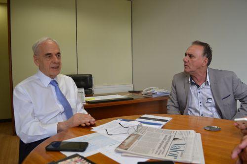 Prefeito José Isalberti com Reinhold Stephanes em Brasília - Arquivo/Jan2017
