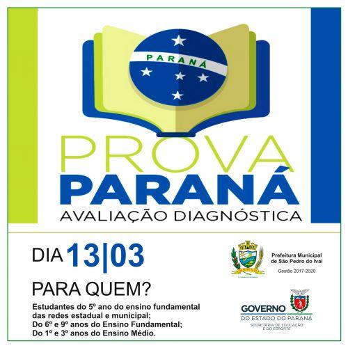 Alunos do 5º ano do ensino fundamental das redes estadual e municipal; 6º e 9º anos do ensino fundamental e do 1º e 3º anos do ensino médio farão a Prova Paraná