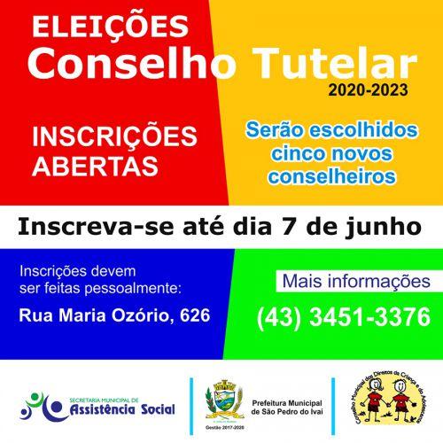 CMDCA de São Pedro do Ivaí abre inscrições para eleições dos conselheiros tutelares; saiba mais