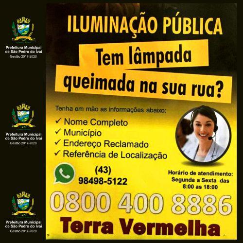 Nova empresa assume manutenção da iluminação pública de São Pedro do Ivaí