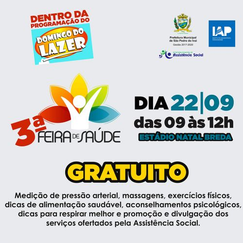 Em parceria com universidade, prefeitura de São Pedro do Ivaí apoia III Feira de Saúde