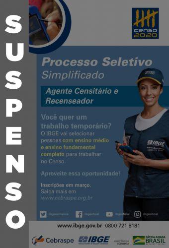 IBGE suspende processos seletivos do Censo 2020; leia