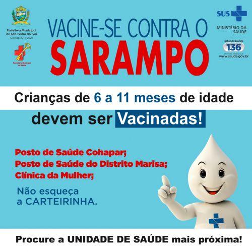 Crianças de 6 a 11 meses devem tomar nova dose da vacina contra Sarampo