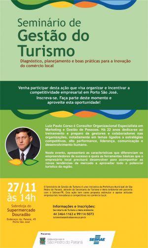 Seminário de Gestão do Turismos