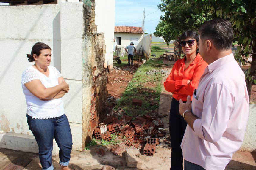 Prefeitura atende famílias prejudicadas pela forte chuva