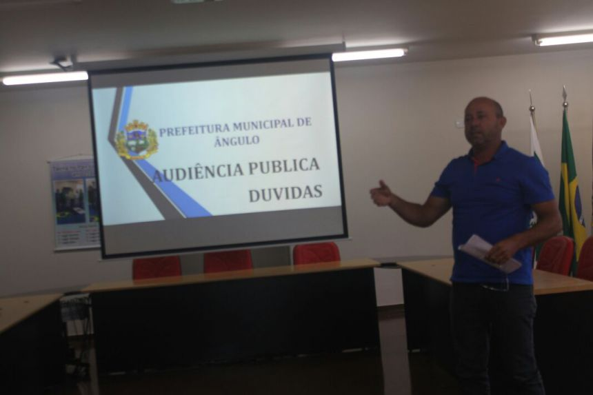Audiência Pública referente ao 3º Quadrimestre de 2017 acontece em Ângulo