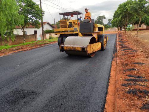 Pavimentação asfáltica das ruas Natal Bozelli e Delmiro Costa de Oliveira