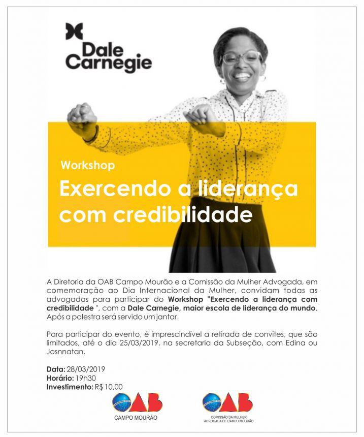 """Workshop """"Exercendo a liderança com credibilidade """""""