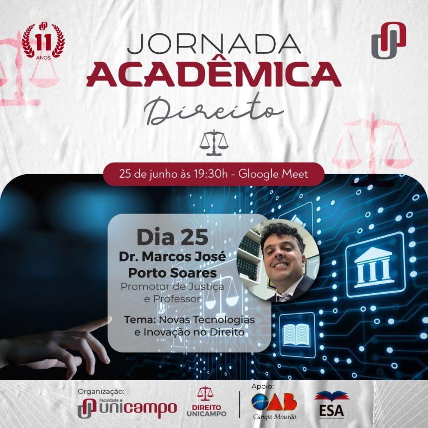 Jornada Acadêmica de Direito. Participe.
