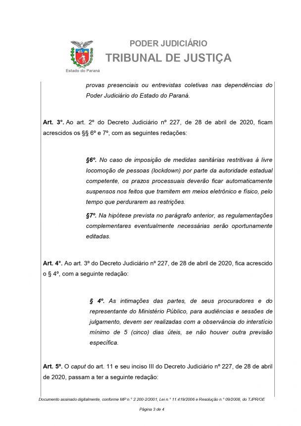 DECRETO JUDICIÁRIO Nº 244/2020 -D.M.