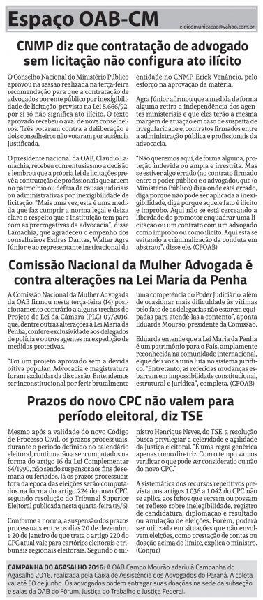 Coluna OAB Campo Mourão