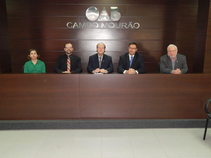 Reunião realizado na Sede da Subseção com o Desembargador Federal Marcio Antonio Rocha