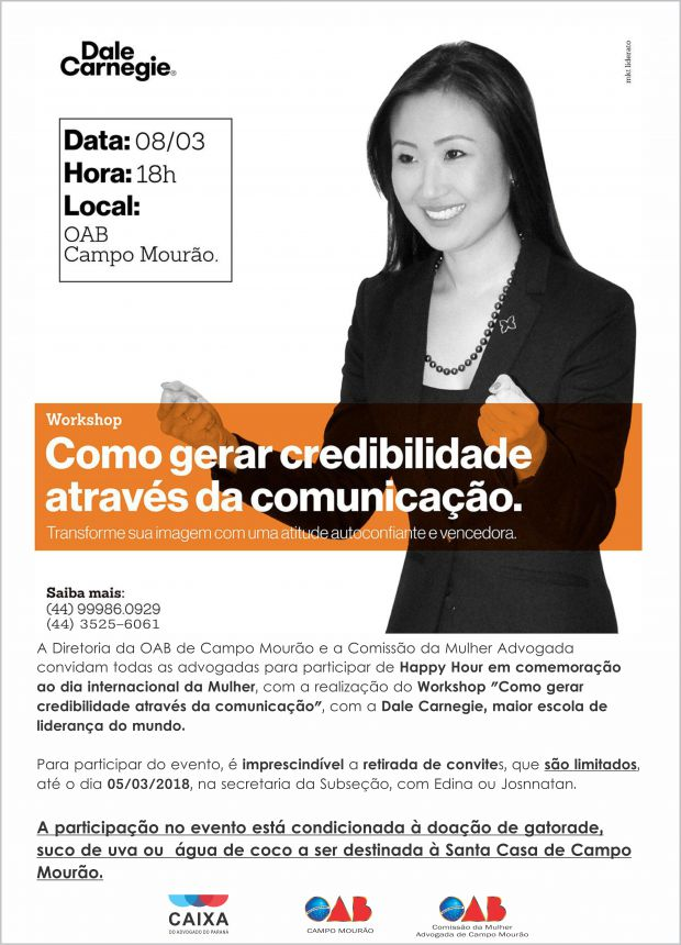 """Workshop """"Como gerar credibilidade através da comunicação"""""""