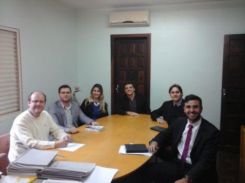 Reunião com o Presidente da Subseção Dr. Renato e os membros que compõem a equipe da CAA/PR