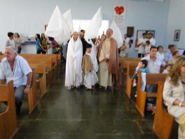 Missa  na Comunidade São Maximiliano Maria Kolbe - Tema: Trabalho