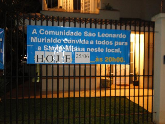 Missa na Comunidade São Leonardo Murialdo - Iracilda de Fátima Tonieti  e   Dona Ana