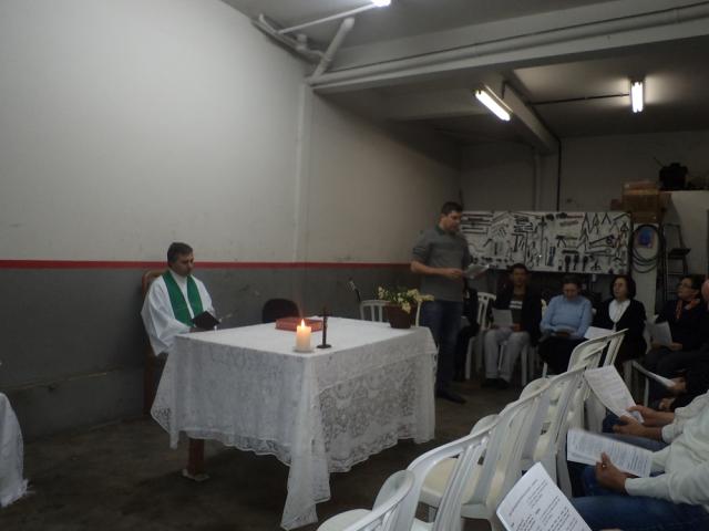 Missa na Comunidade Beato José de Anchieta - Residência da Sra. Luzia e Angelo Andreoli – Rua Mem de Sá,1890 – esquina com a JK