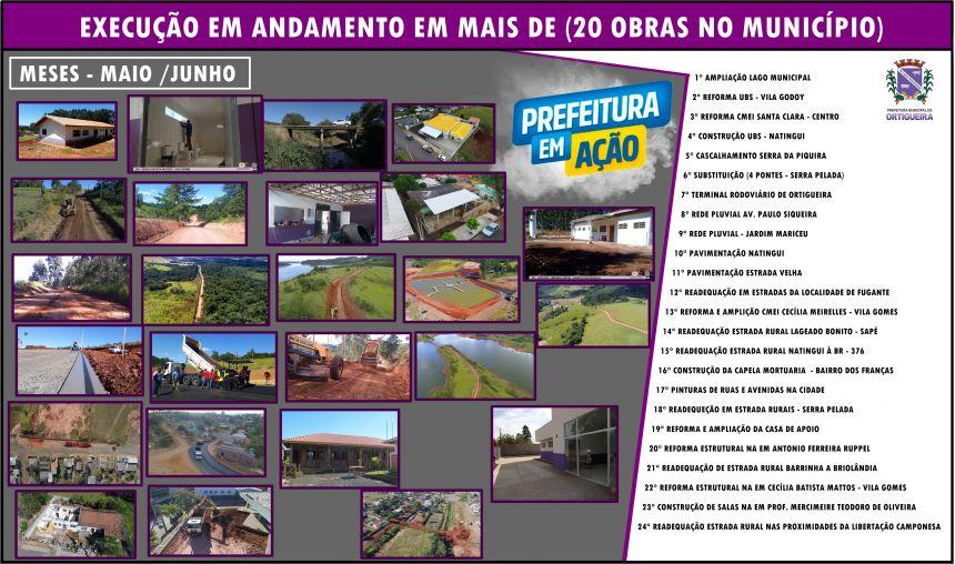 Prefeitura Municipal de Ortigueira mostra as mais de  (20 obras) em execução no Município.
