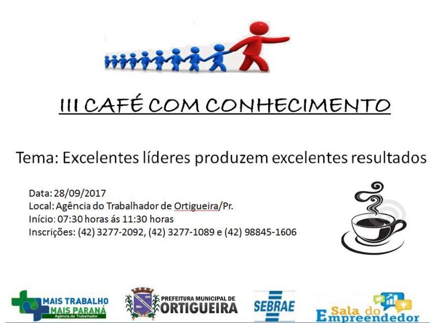 3º Café com Conhecimento
