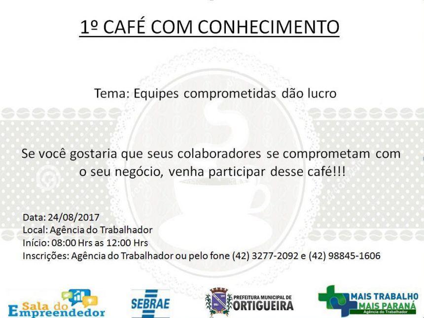 1º Café do Conhecimento