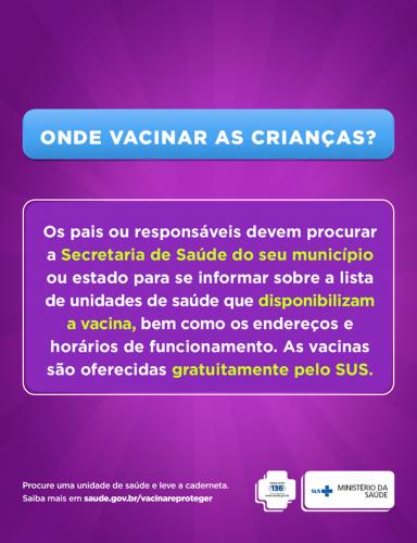 ESCLARECIMENTOS SOBRE VACINAÇÃO DO MINISTÉRIO DA SAÚDE