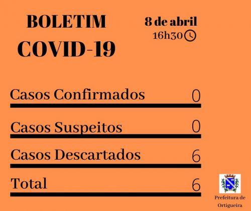 Boletim revela que Ortigueira não tem, no momento, casos suspeitos de Covid-19