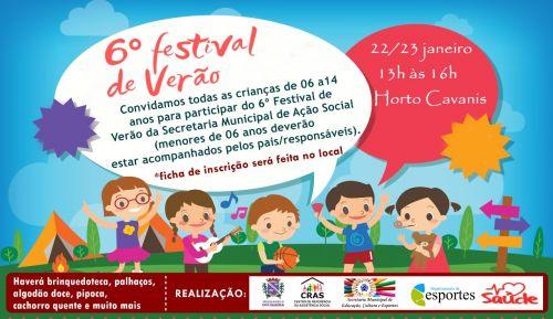 Vem aí! 6º Festival de Verão