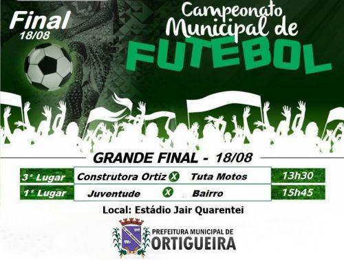 Vem aí a grande final do Campeonato Municipal de Futebol de Campo
