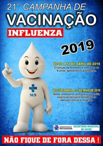 21º Campanha de vacinação Influenza