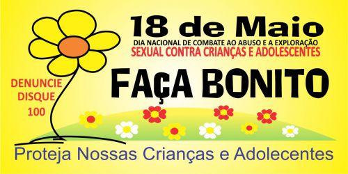 MOBILIZAÇÃO REFERENTE AO DIA NACIONAL DE COMBATE AO ABUSO E A EXPLORAÇÃO SEXUAL DE CRIANÇAS E ADOLESCENTES.